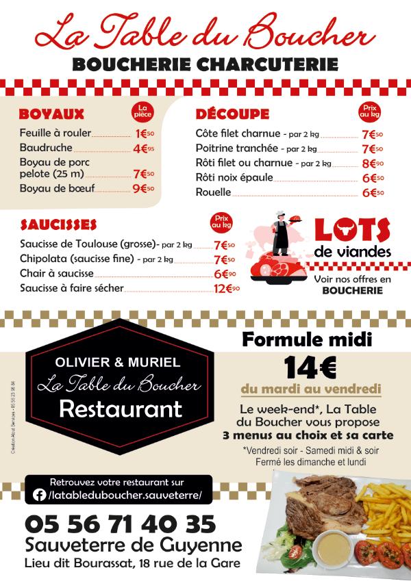 La Table Du Boucher 01