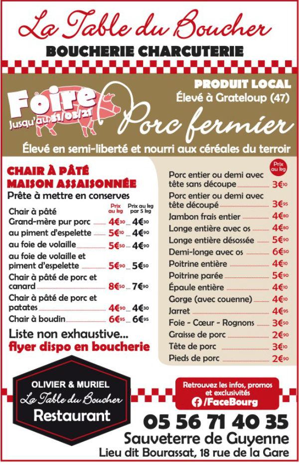 La Table Du Boucher Sauveterre De Guyenne